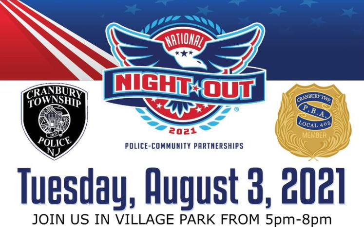 PBA poster of National Night out for August 3rd