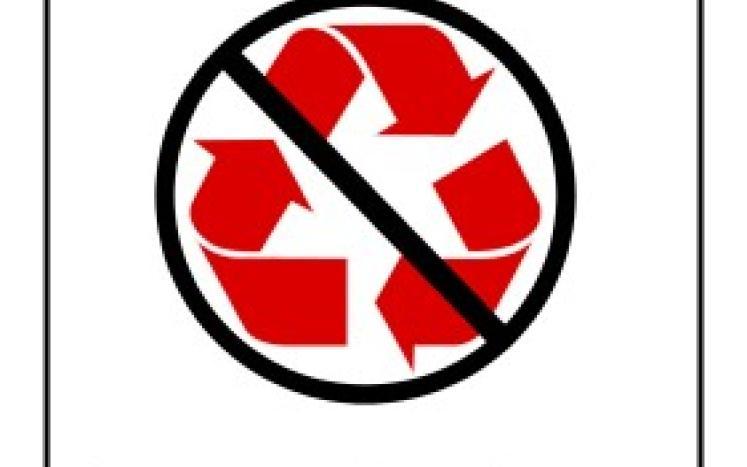Symbol of No Styrofoam Recycling